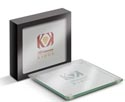 Glass Coaster Set of 2 in Box printed