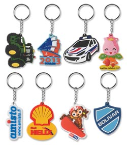PVC three dimensional key rings 3D Key Ring
