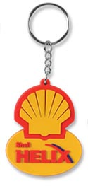 PVC Key Ring Shell Crest